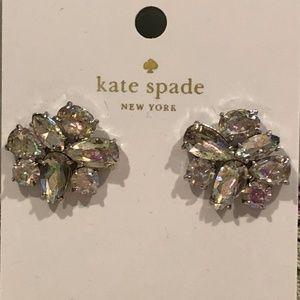 NWT Kate Spade Crystal Cluster Stud Earrings